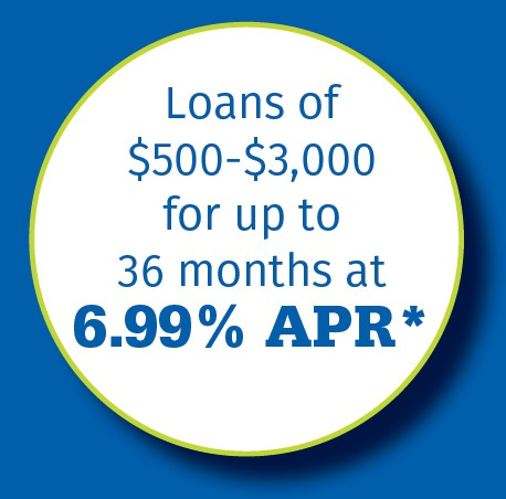 Loans of $500-$3,000 for up to 36 months at 6.99% APR*
