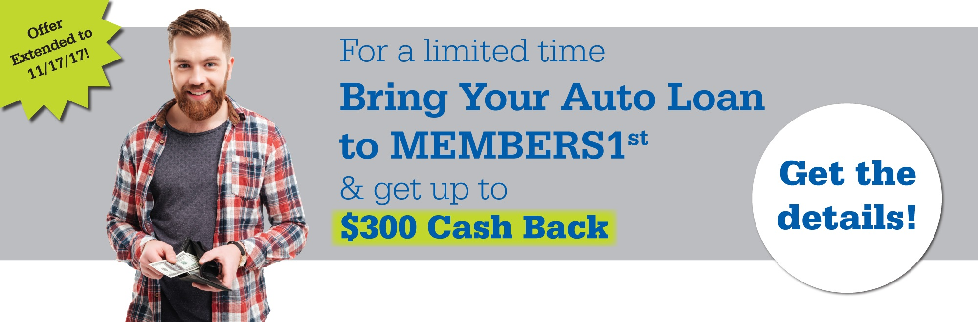 Refinance your auto loan with us!