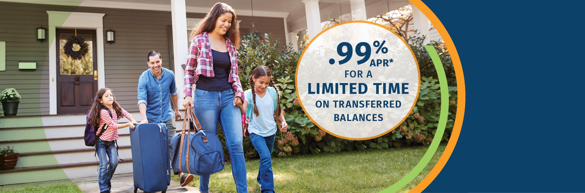 .99% APR* on credit card balance transfers
