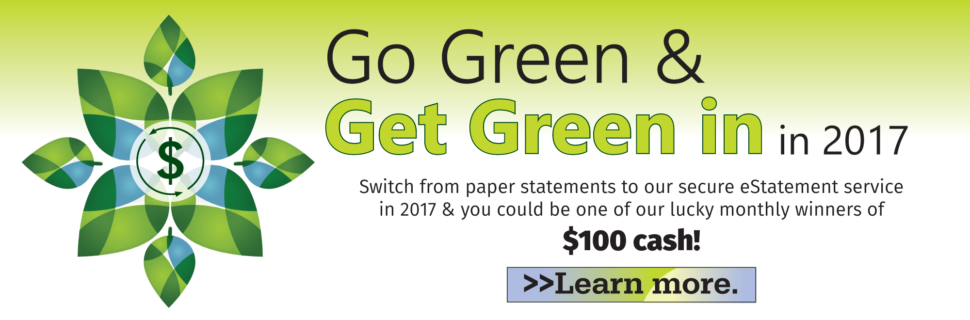 Go Green and Get Green Banner image