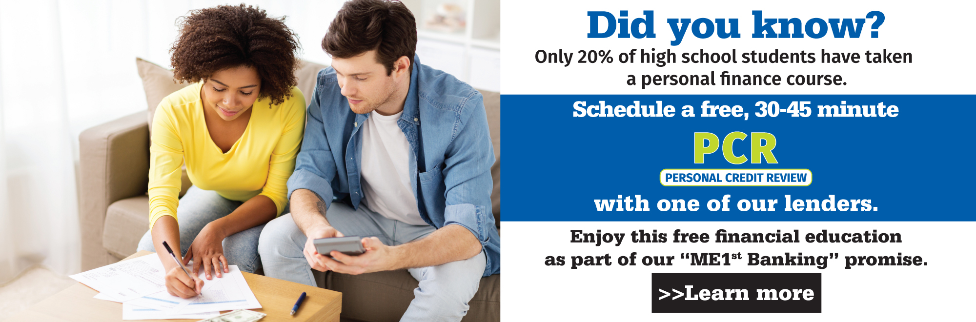 Schedule a free personal credit review.