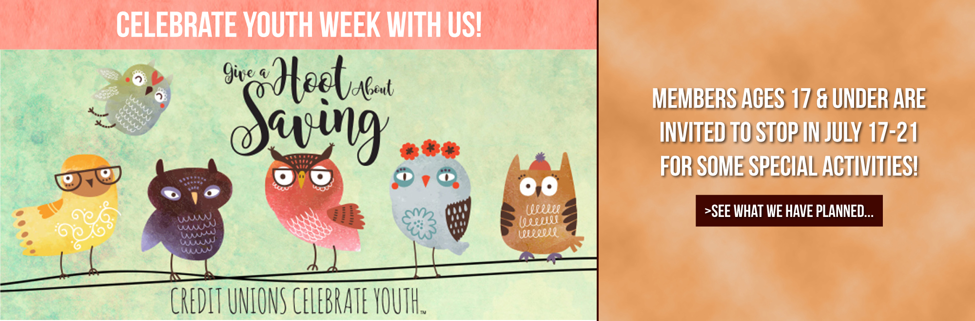 Join us for youth week, July 17-21!