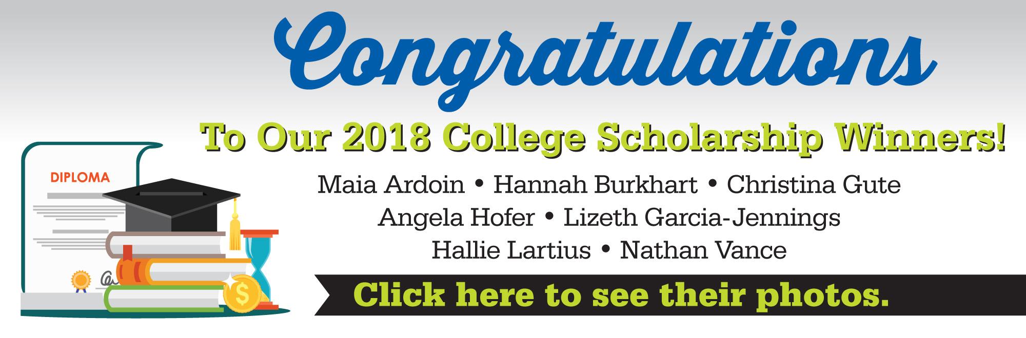 2018 Scholarship Winners