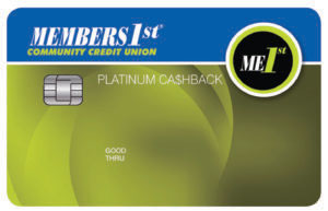 Members1st Visa Platinum Cashback Card