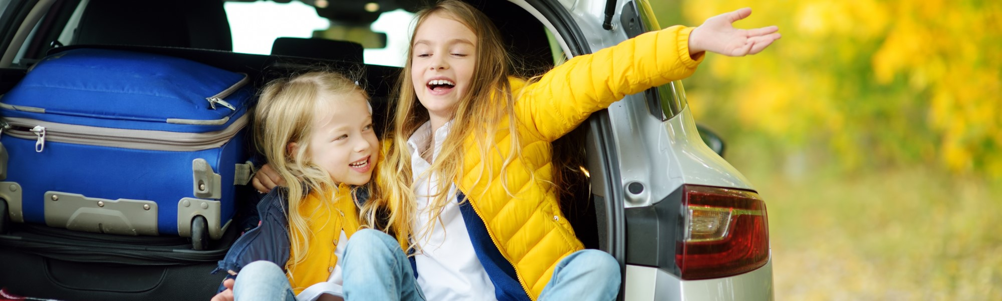 Image of two girls in a car